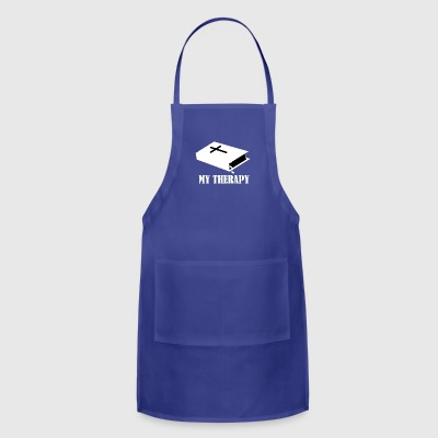 Reading the Bible is my therapy - Adjustable Apron
