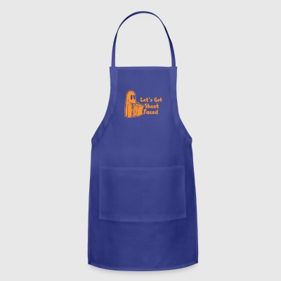 Halloween Lets Get Sheet Faced - Adjustable Apron