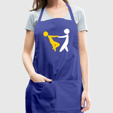 Couple Dancing On Valentine's Day - Adjustable Apron