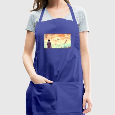 art boy birds sky clouds - Adjustable Apron