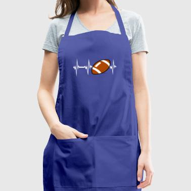 Heartbeat Play American Football Birthday Gift - Adjustable Apron