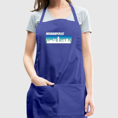 Retro Indianapolis Skyline - Adjustable Apron