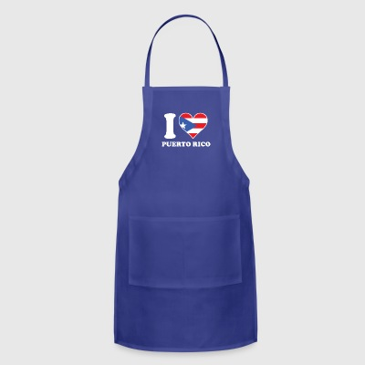 I Love Puerto Rico Puerto Rican Flag Heart - Adjustable Apron