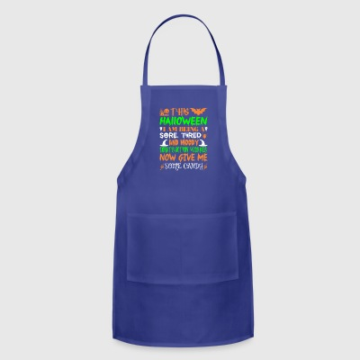 This Halloween Tired Construction Worker Candy - Adjustable Apron