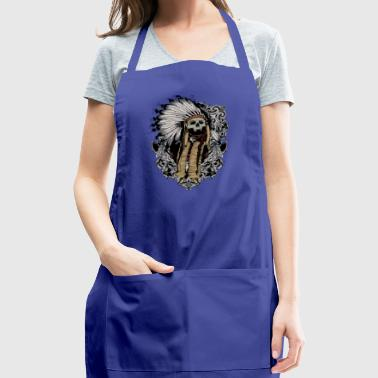 american indian skull - Adjustable Apron