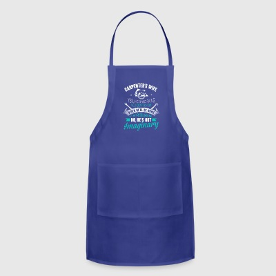 Job's Wife Yes He's Working Carpenter - Adjustable Apron