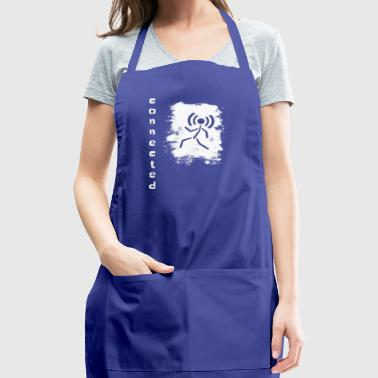 Smartphone Stick Figure mobil reception connected - Adjustable Apron