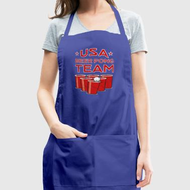 USA beer Pong Team - America Shirt - Beer Shirt - Adjustable Apron
