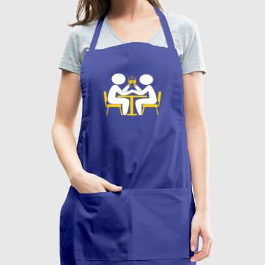 Valentine's Day Couple Celebrating - Adjustable Apron