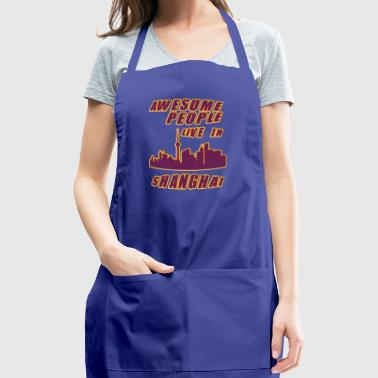 SHANGHAI Awesome people live in - Adjustable Apron