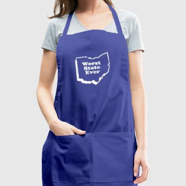 ohio worst state ever - Adjustable Apron