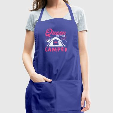 Shirt for camper as a gift - queen of the camper - Adjustable Apron