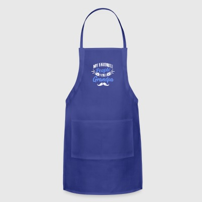 My favorite people call me grandpa - shirt as gift - Adjustable Apron