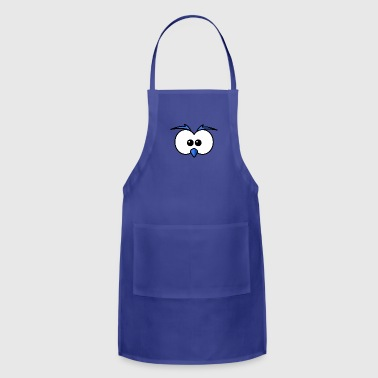 Eyes with beak and eyebrows blue - Adjustable Apron