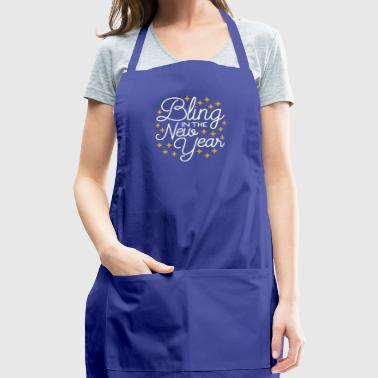 Bling In The New Year with Stars - Adjustable Apron