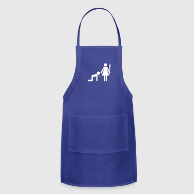 A Woman Holds A Man As A Slave - Adjustable Apron
