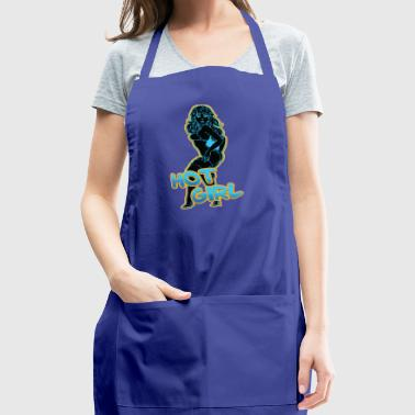hot_sexy_girl_pin_up_black - Adjustable Apron