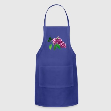 Small Cluster of Pink Lilacs - Adjustable Apron