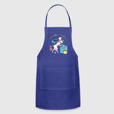 Culinary Fartist Unicorn Outline - Adjustable Apron
