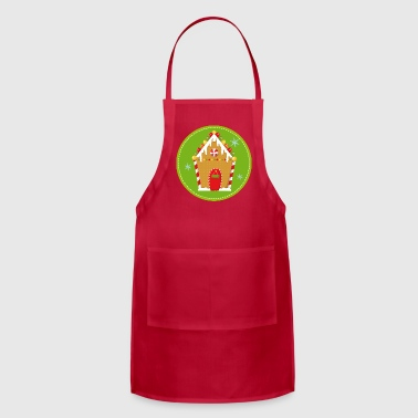 Gingerbread Christmas Gingerbread House - Adjustable Apron