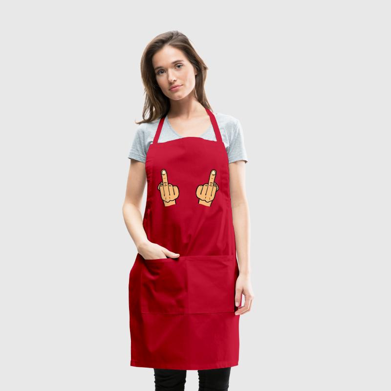double fuck/ two middle fingers - Adjustable Apron