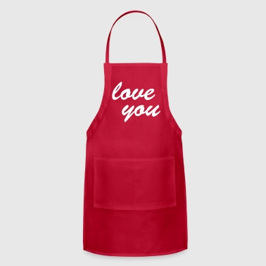love you - Adjustable Apron