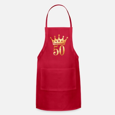 Crown 50th Birthday & Anniversary Crown (Vintage Gold) - Apron