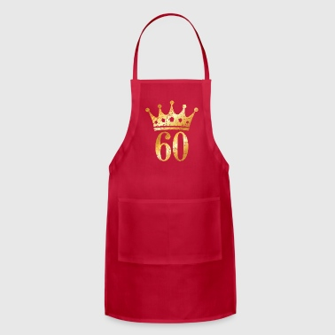 60th Birthday & Anniversary Crown (Vintage Gold) - Adjustable Apron