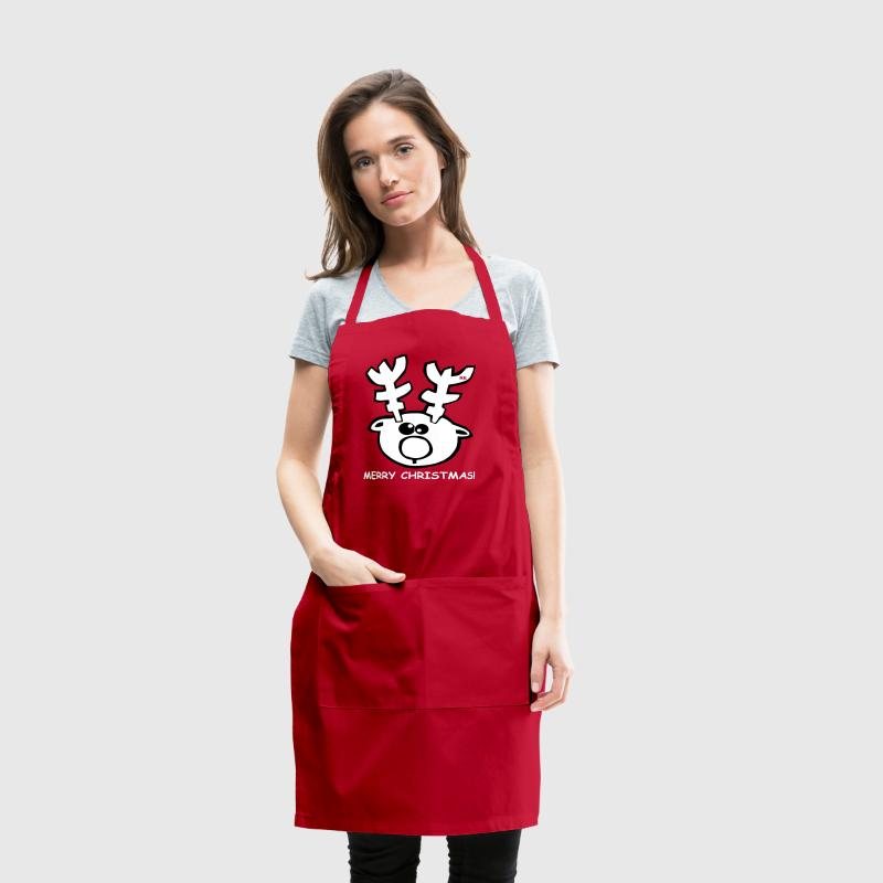 Merry Christmas Elk Moose - Adjustable Apron