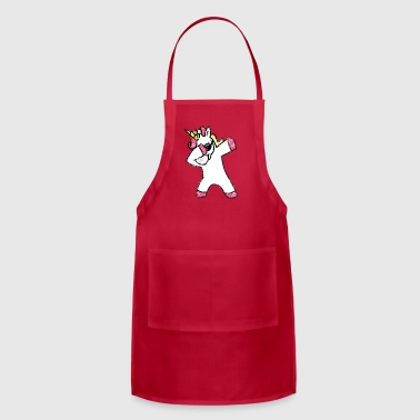 Funny Unicorn Dabbing Unicorn - Funny - Gift - Adjustable Apron