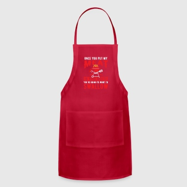 Meat in your mouth swallow - barbecue - Adjustable Apron