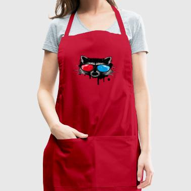 Raccoon with 3D glasses - Adjustable Apron
