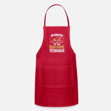 Veterinarian Married To An Awesome Veterinarian - Adjustable Apron
