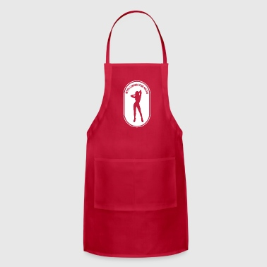 Bitch looking for macho saying party - Adjustable Apron