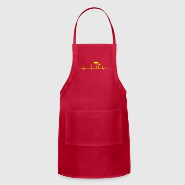 GIFT - ECG PAINT BRUSHES YELLOW - Adjustable Apron