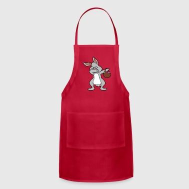 Dabbing Dancing Rabbit Easter Bunny Hare - Adjustable Apron