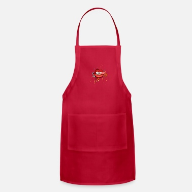 Tongue tongue lips - Adjustable Apron