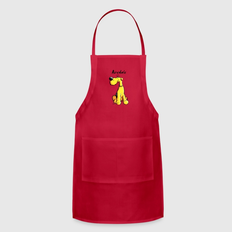 Cute Airedale Terrier Cartoon - Adjustable Apron
