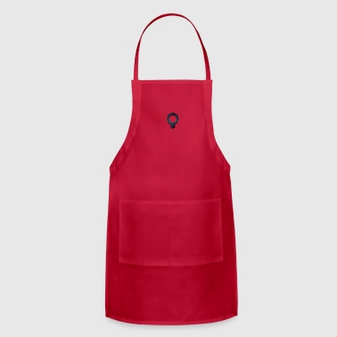 Symbols & Shapes blue retro rusted grunge icon symbols shape - Adjustable Apron