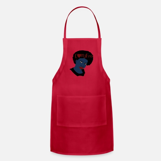 Love Aprons - Beautiful Love, I love My Fro Tshirt/Tees - Apron red