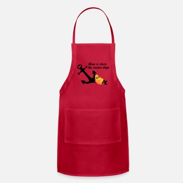 Instagram Mango Sailing - Home is where the anchor drops - Adjustable Apron