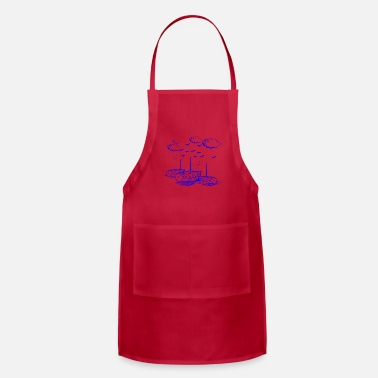 Schleswigholstein GIFT - BOATS BLUE - Apron