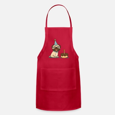 Pug Present Happy Birthday Dog Funny Pug Present - Apron