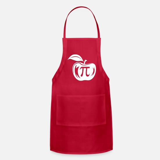 Pi Day Aprons - Apple Pi Happy Pi Day - Apron red