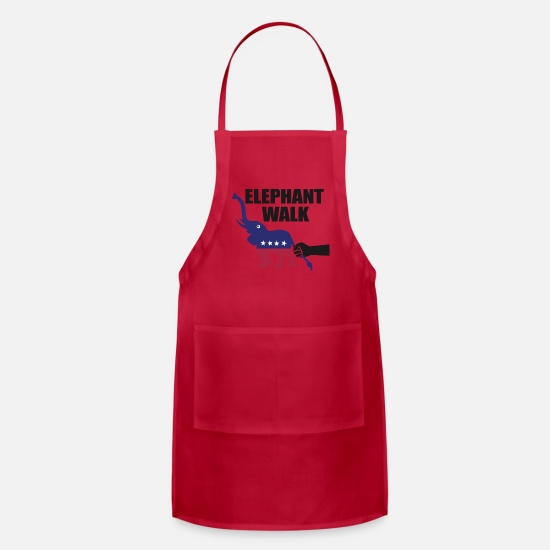 Congress Aprons - Elephant Walk - Apron red