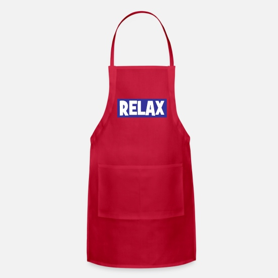 Relax Aprons - RELAX - chill - chill out - relaxing - Apron red