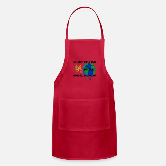 Cycling Aprons - START CYCLING - Apron red