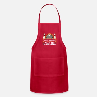 Funny Bowling Bowling Bowl Bowling Ball Funny Sayings Sports - Adjustable Apron