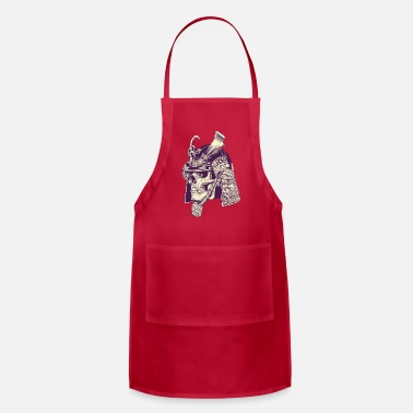 Art Skull Samurai Warrior cool art - Apron