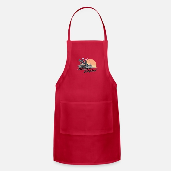Music Aprons - Mushroom Kingdom - Apron red